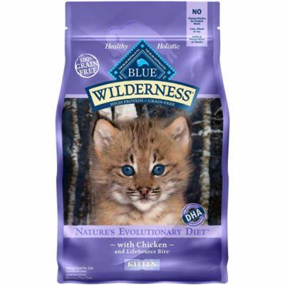 Blue Buffalo Wilderness High Protein Dry Kitten Food - Chicken, 5 lb