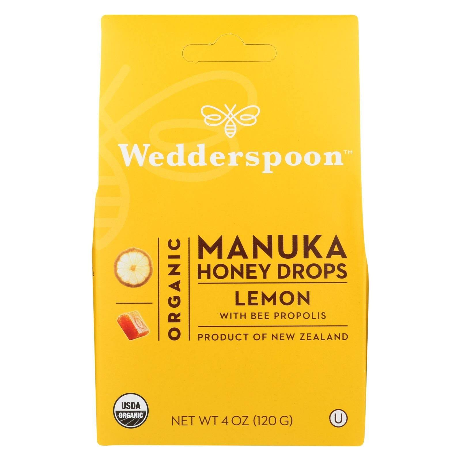Wedderspoon Organic Manuka Honey Lozenges - Lemon with Bee Propolis