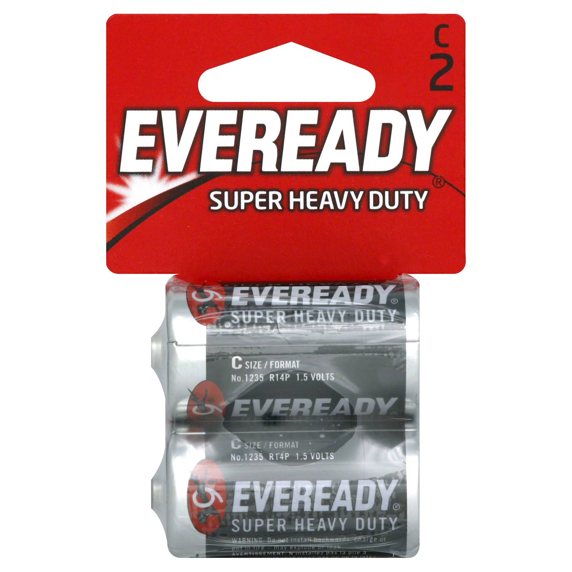 Energizer Eveready Super Heavy Duty Battery - 2 Pack