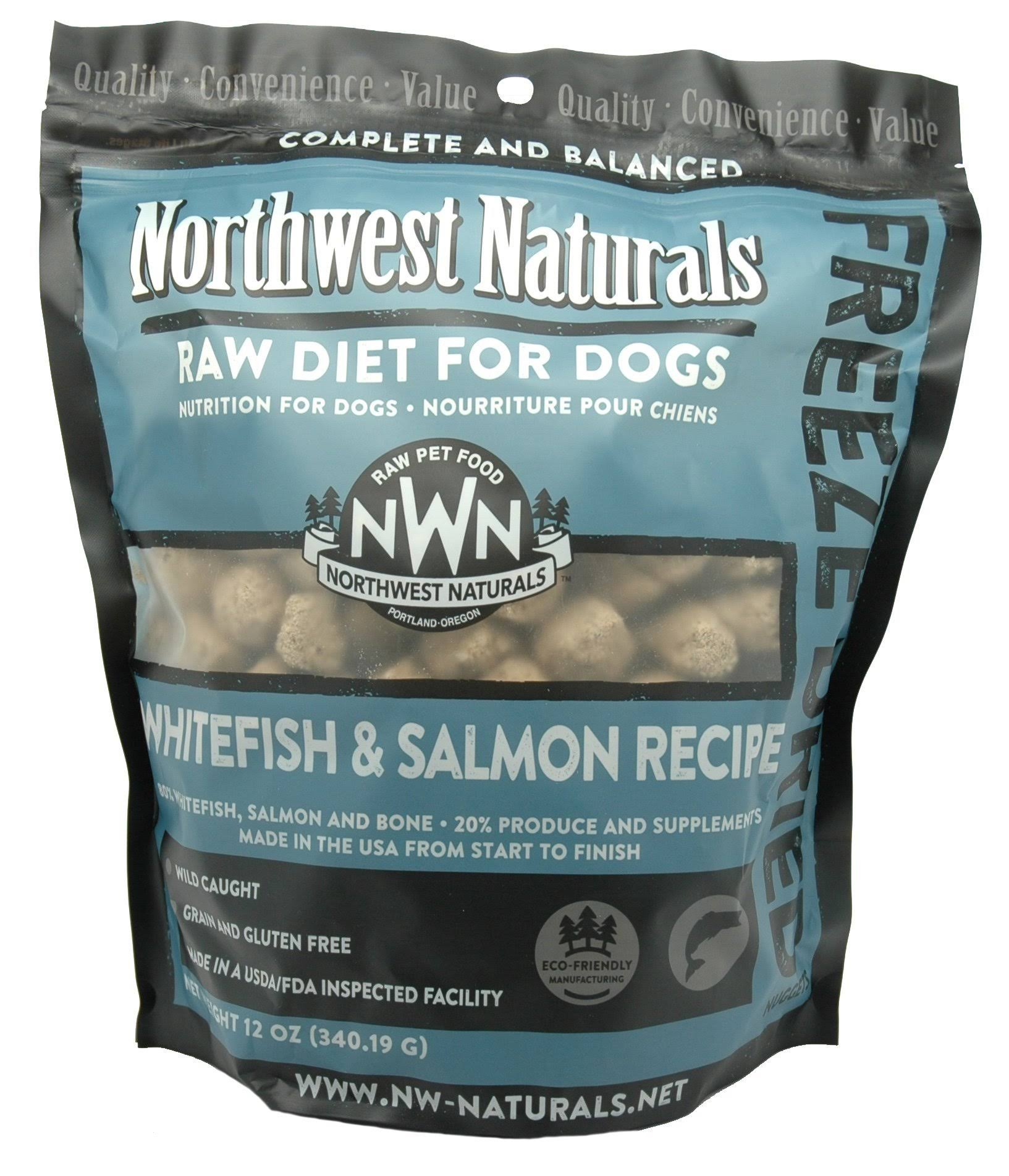 Northwest Naturals Whitefish & Salmon Freeze Dried Raw Nuggets 12oz