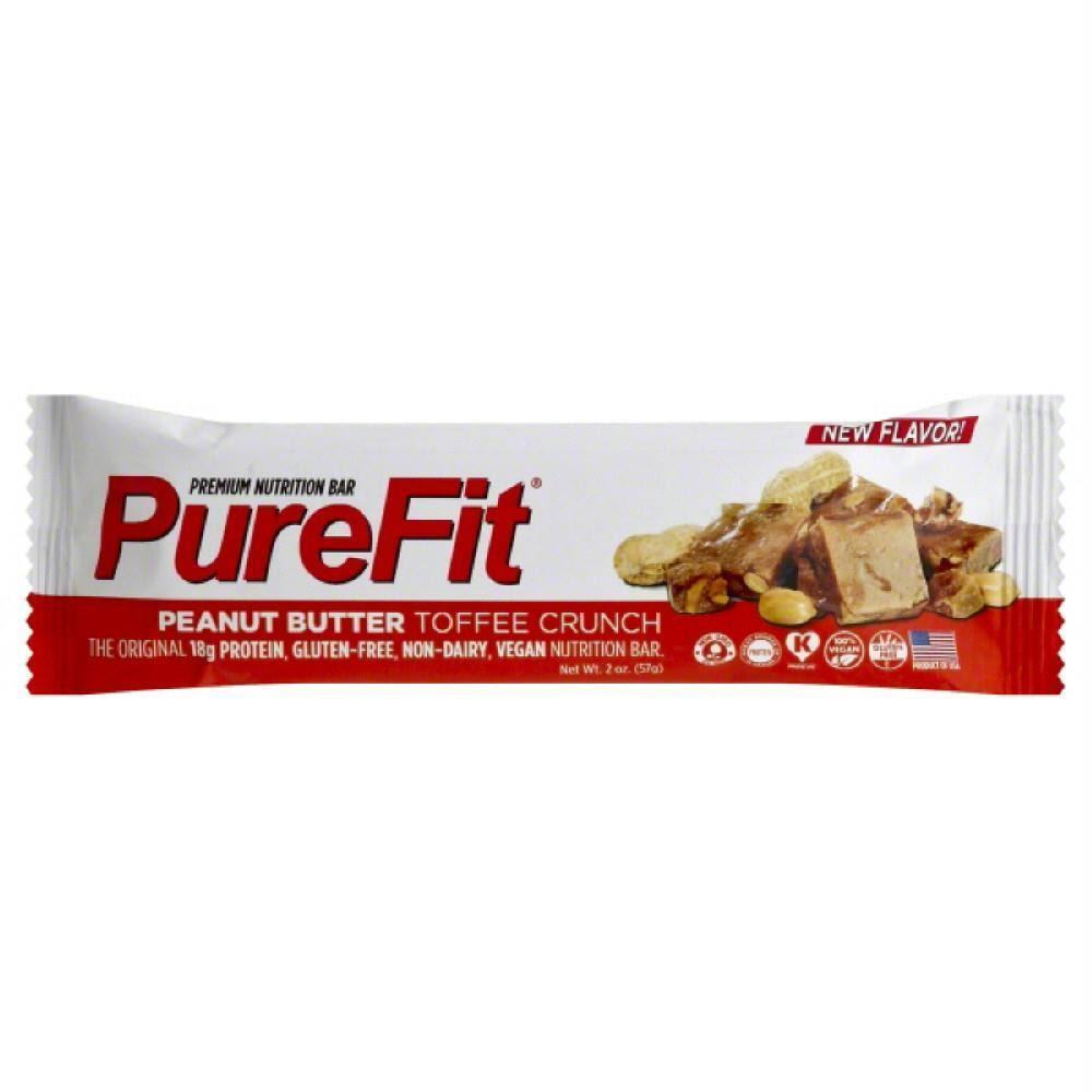 PureFit Nutrition Bar - Peanut Butter Toffee Crunch