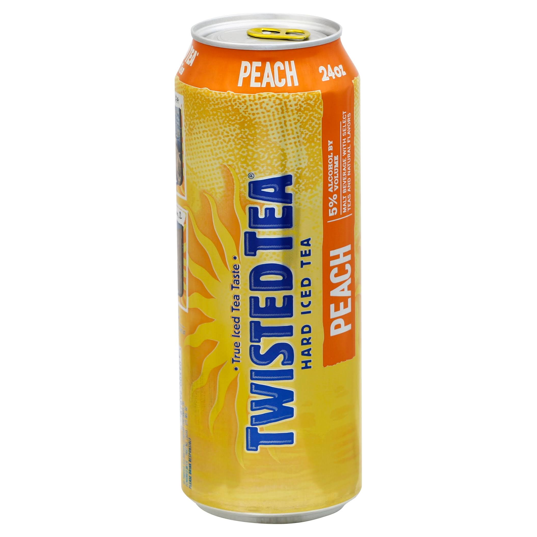 Twisted Tea Hard Iced Tea, Peach - 24 oz