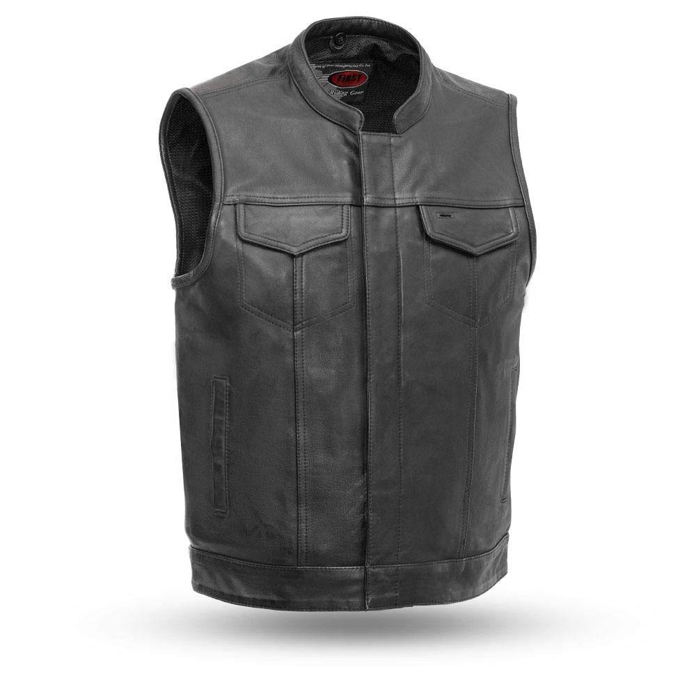 First Manufacturing Men's Sharp Shooter Motorcycle Vest - Black, XX-Large