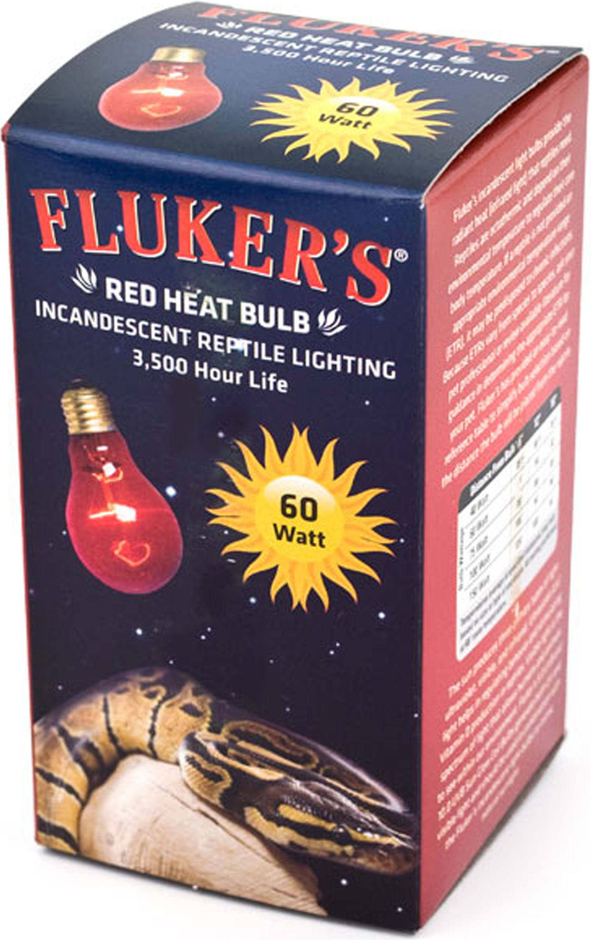 Fluker's Heat Incandescent Reptile Bulb - Red, 60W