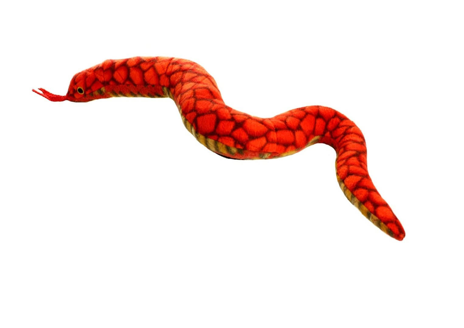 Tuffy Durable Dog Toy - Desert Snake, Red/Brown