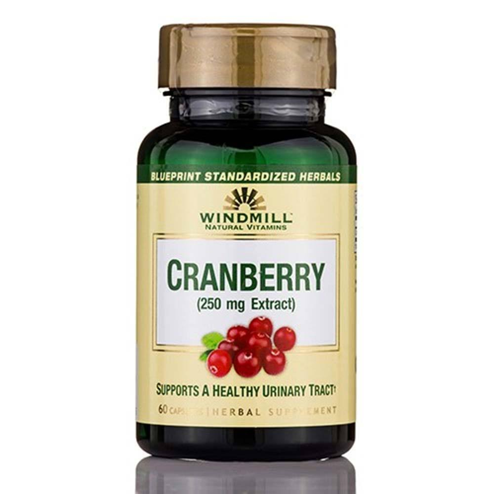 Windmill Herbals Cranberry Dietary Supplement - 250mg, 60 Capsules