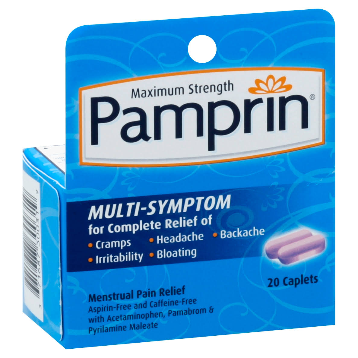 Pamprin Menstrual Pain Relief, Maximum Strength, Caplets - 20 caplets