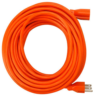 Master Electrician Round Vinyl Extension Cord - 100', Orange