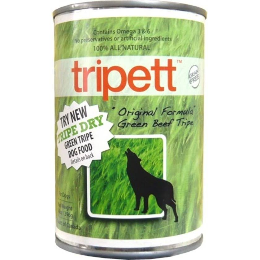 Tripett Original Formula Natural Dog Food - Green Beef Tripe, 396g