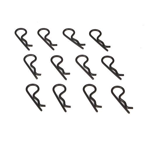 Team Losi Racing Body Clips - Black, 12 Pack
