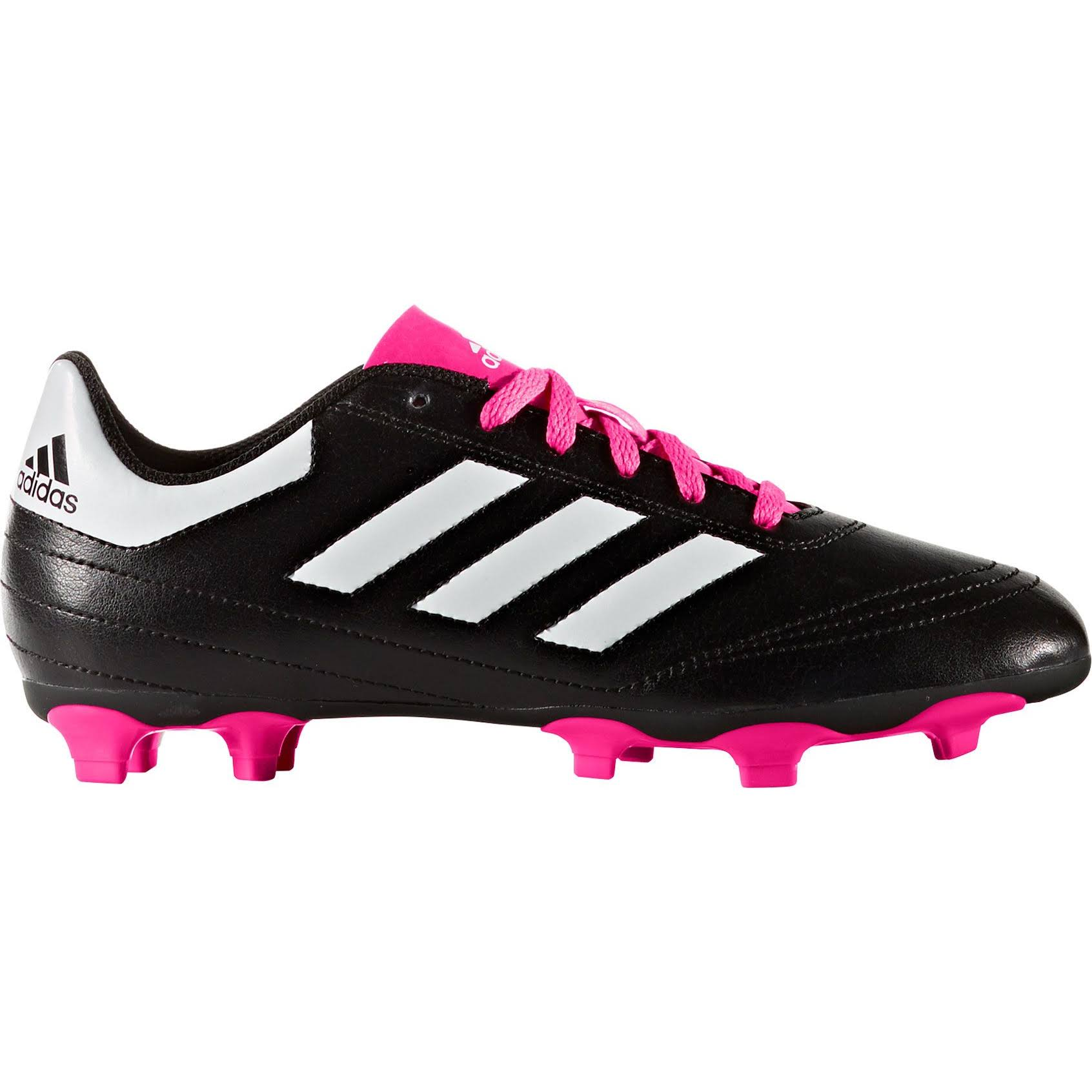 Adidas Kids' Goletto VI Fg Soccer Cleats - Black and Pink, 1.5 US