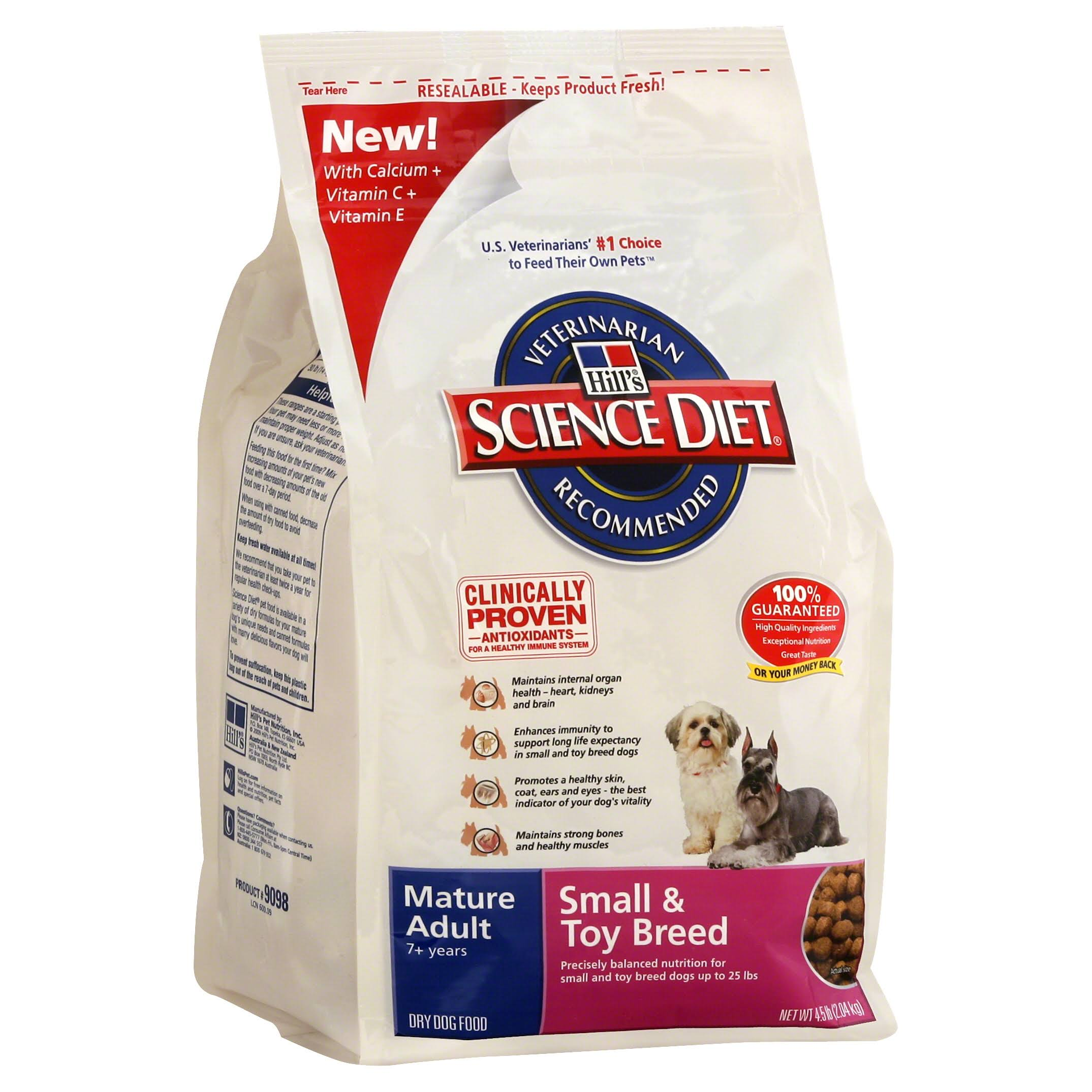 Hill's Science Diet Small and Toy Breed Dry Dog Food - Chicken Meal Rice & Barley Recipe, Adult 7+, 4.5lbs