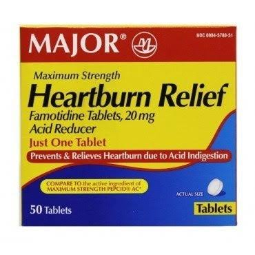 Heartburn Relief - 20mg, 50 Count (famotidine)
