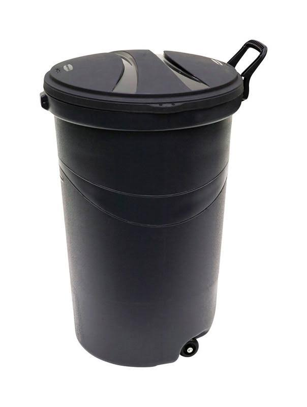 Rubbermaid Rm5h9601 Wheeled Trash Can