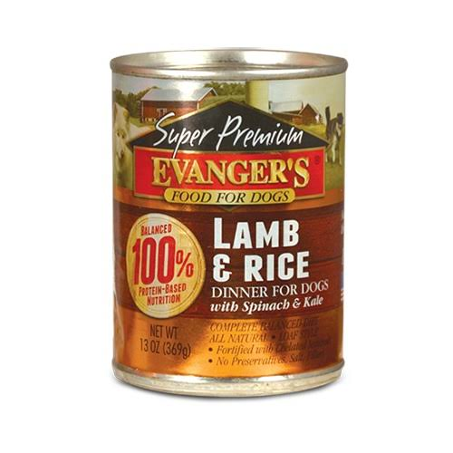 Evanger's Super Premium Lamb & Rice Dinner Canned Dog Food