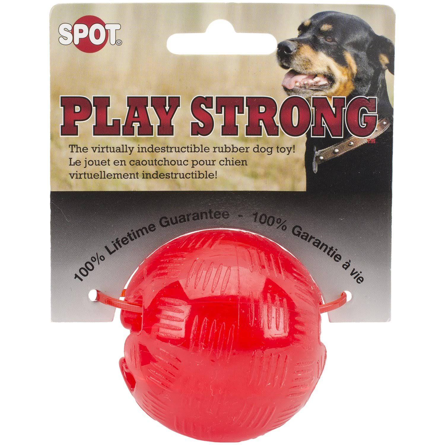 Spot Play Strong Rubber Ball Dog Toy - Small