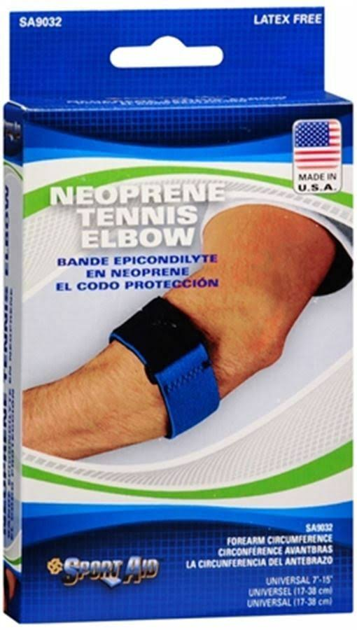 Sportaid Tennis Elbow Brace Neoprene Support - Blue, Universal, 1Each