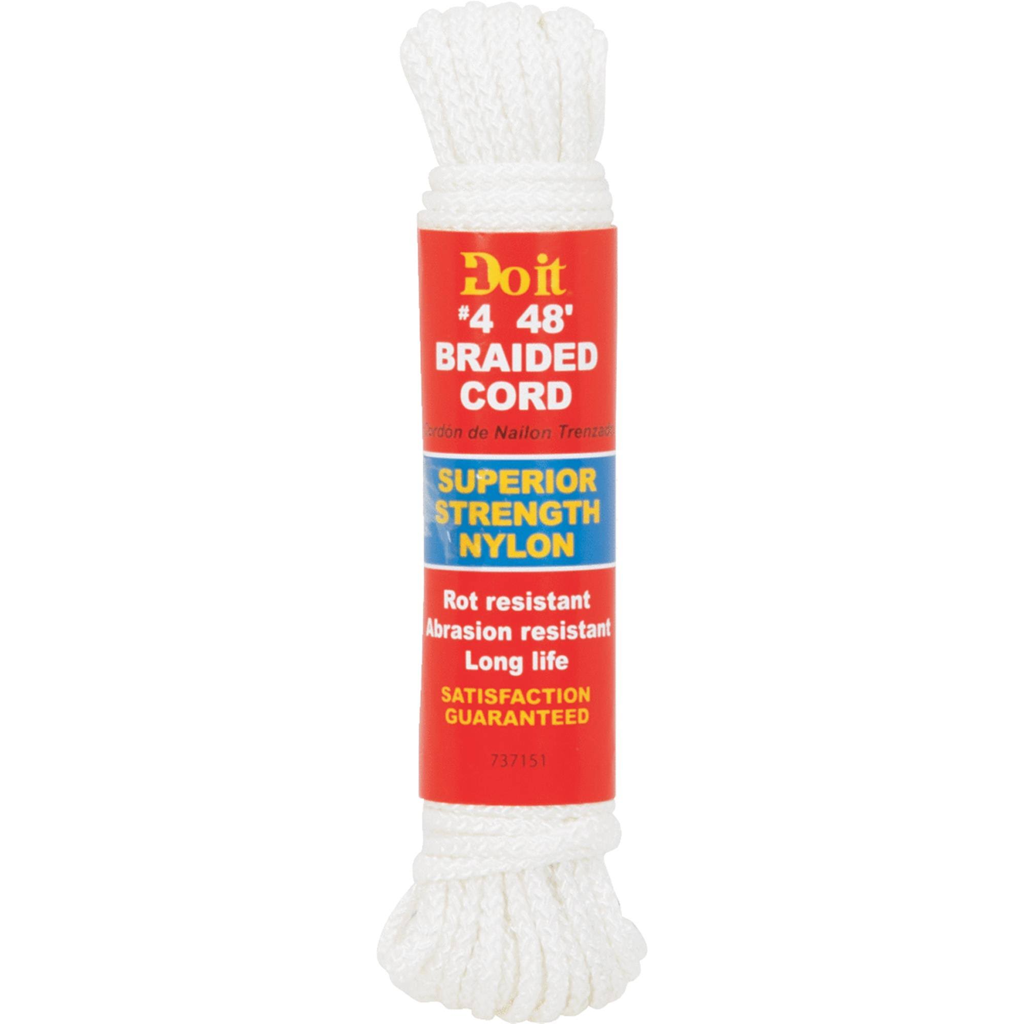 Do It Best Braided Cord - Super Strength Nylon, 48'