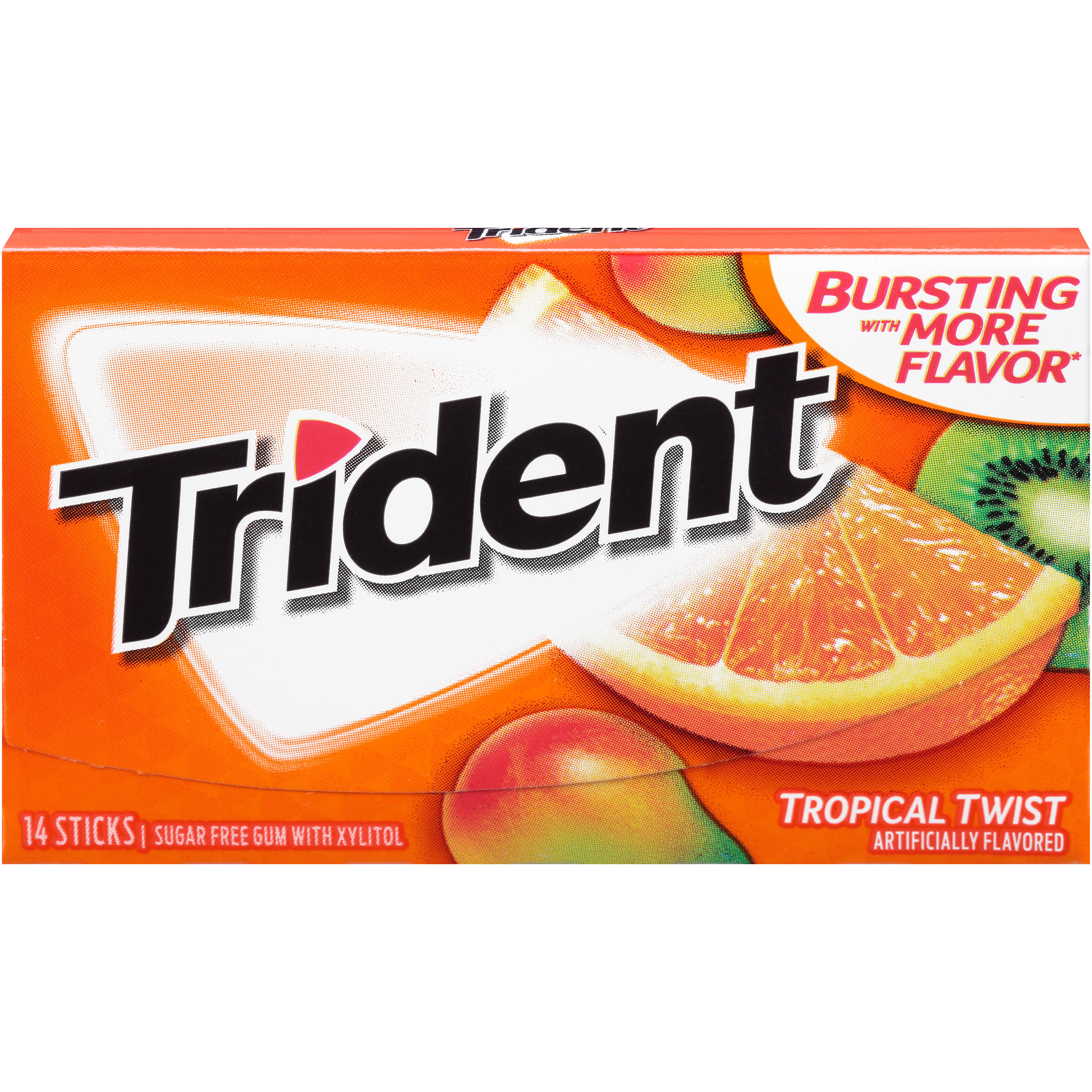 Trident Tropical Twist Sugar-Free Gum - x18