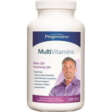 Progressive Adult Men 50 Plus Multi Vitamins - 120ct