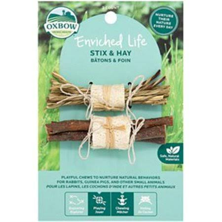 Oxbow 73296296 Small Animal Enriched Life Stix & Hay