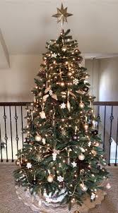 Raz Gold Christmas Trees by Gold Bronze Brown Cream Silver Metallic Christmas Holiday