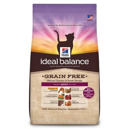 Hill's Ideal Balance Dry Cat Food - Adult 1-6, Natural Chicken and Potato Recipe, 6lbs