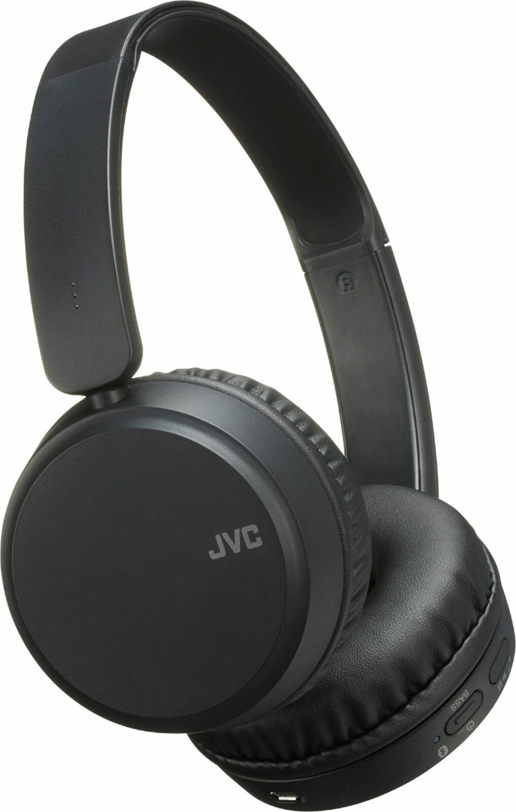 JVC Wireless Headphones - Black, Deep Bass