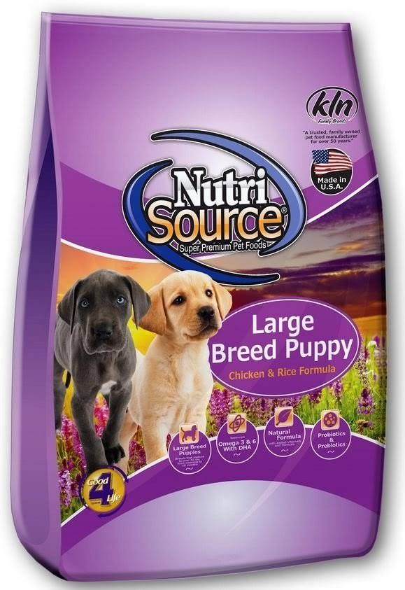 NutriSource Large Breed Puppy Chicken and Rice Dry Dog Food 15-lb