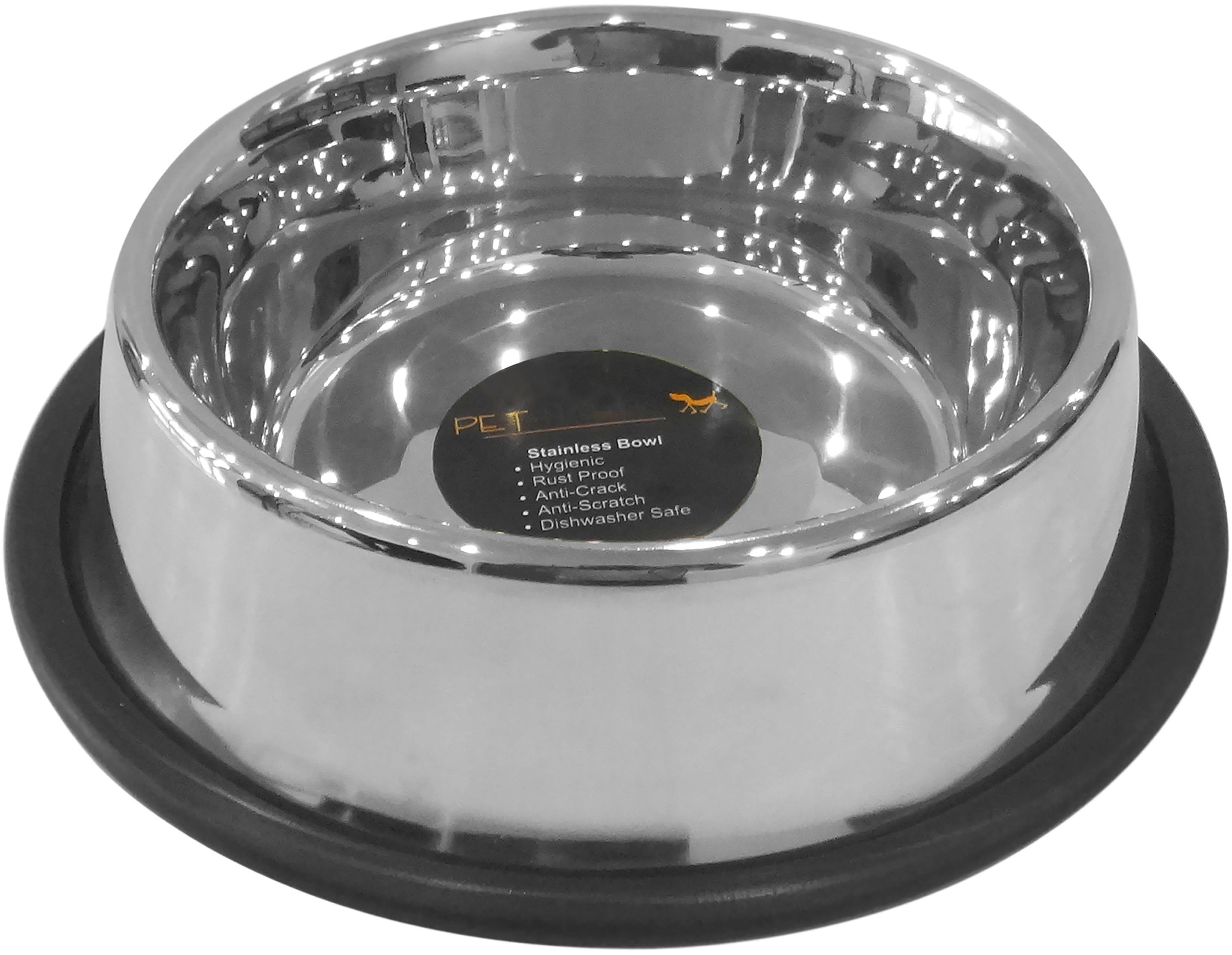 Pet Nautic Non-Skid Non-Tip Bowl 64oz-Stainless Steel