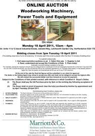 Woodworking Machinery Auction Uk by Sales Archive Marriott U0026 Co