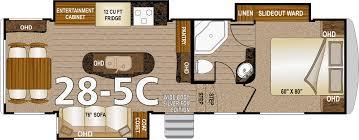 5th Wheel Toy Hauler Floor Plans by Northwood Arctic Fox Fifth Wheels