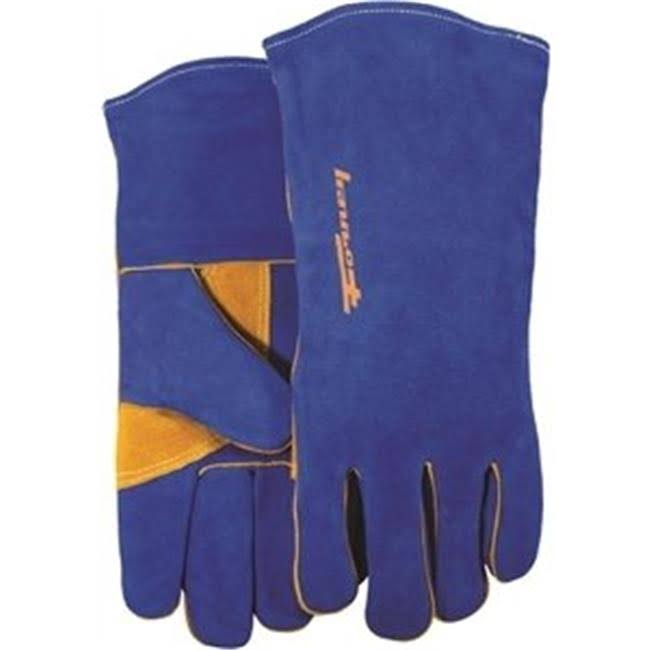 Forney Heavy-Duty Welding Gloves - Blue, Large