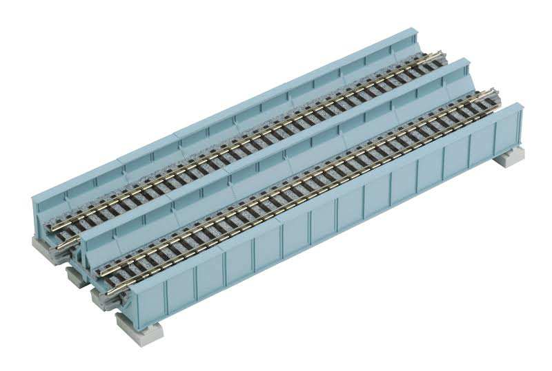 "Kato N 186mm 7-5/16"" Double Plate Girder Bridge, ltblue - KAT20455"