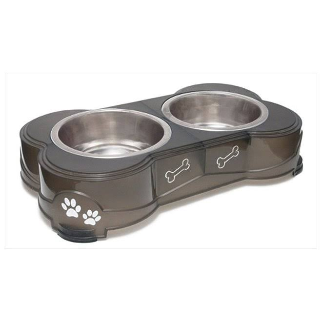 Loving Pets Dolce Diner Dog Bowl - Espresso, Small
