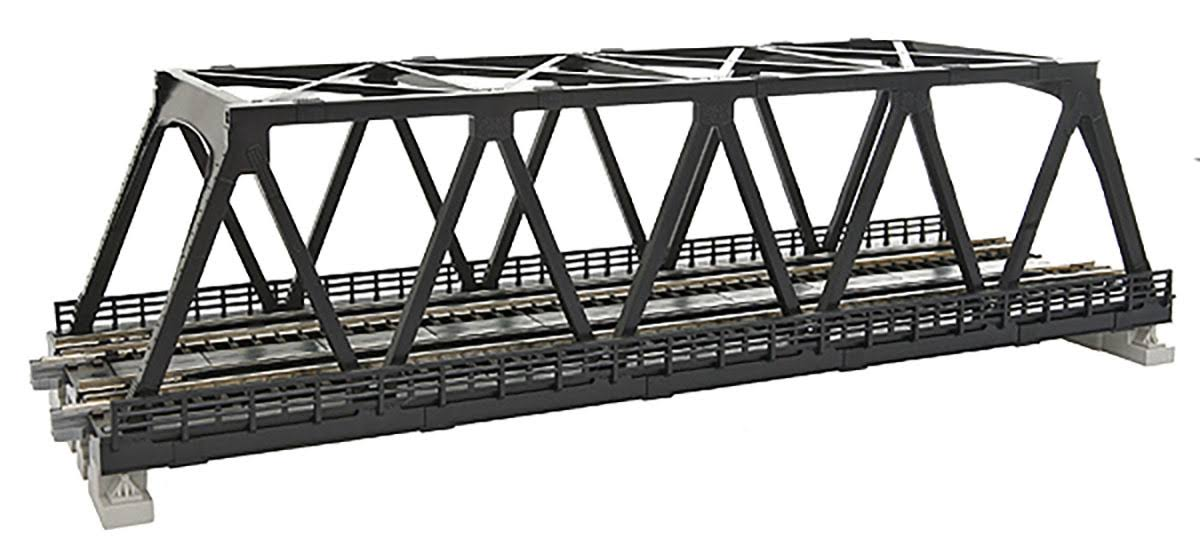 Kato 20438 Double Track Truss Bridge - Black, 248mm
