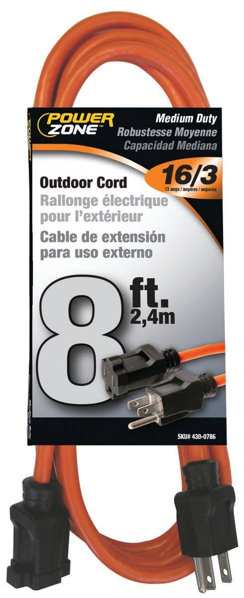 Power Zone OR501608 Extension Cord - Orange, 8 '