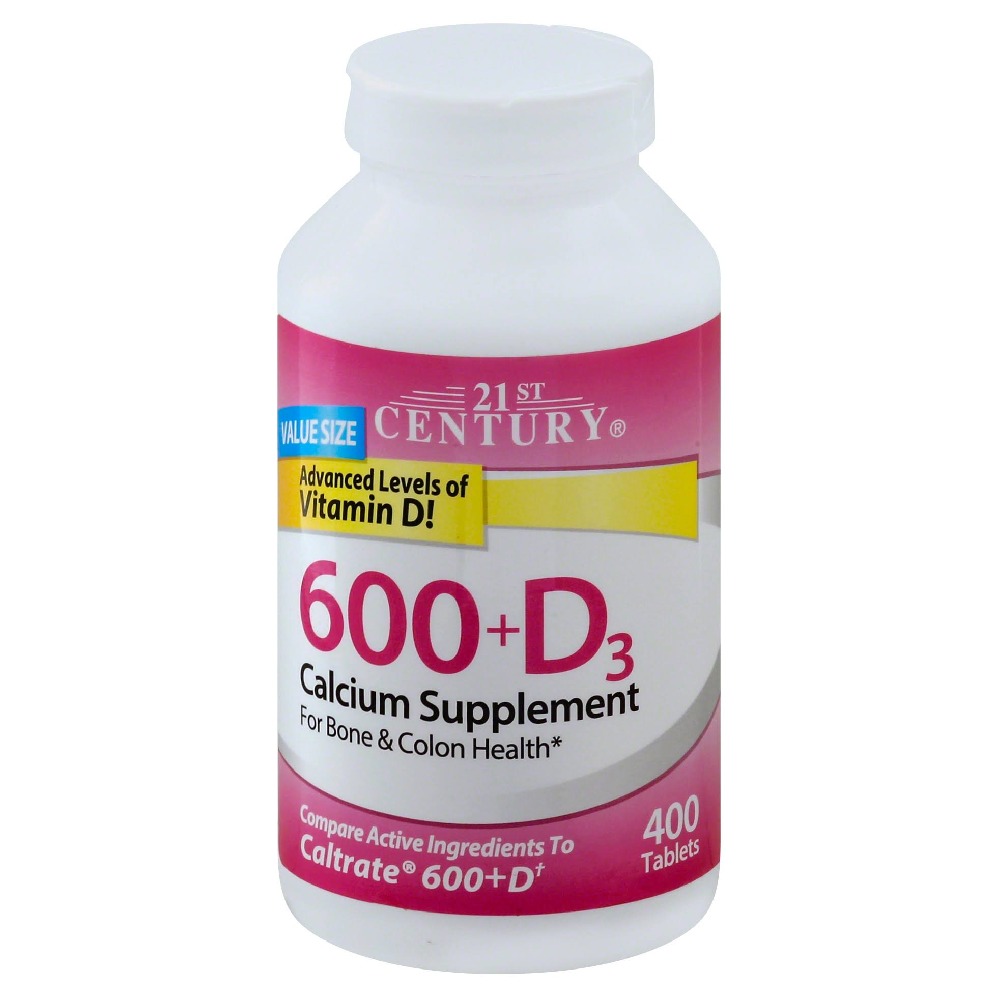 21st Century Calcium Plus D Supplement - 600mg, x400