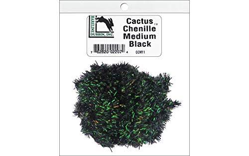 Hareline Cactus Chenille Fly Tying Materials - Black, Medium
