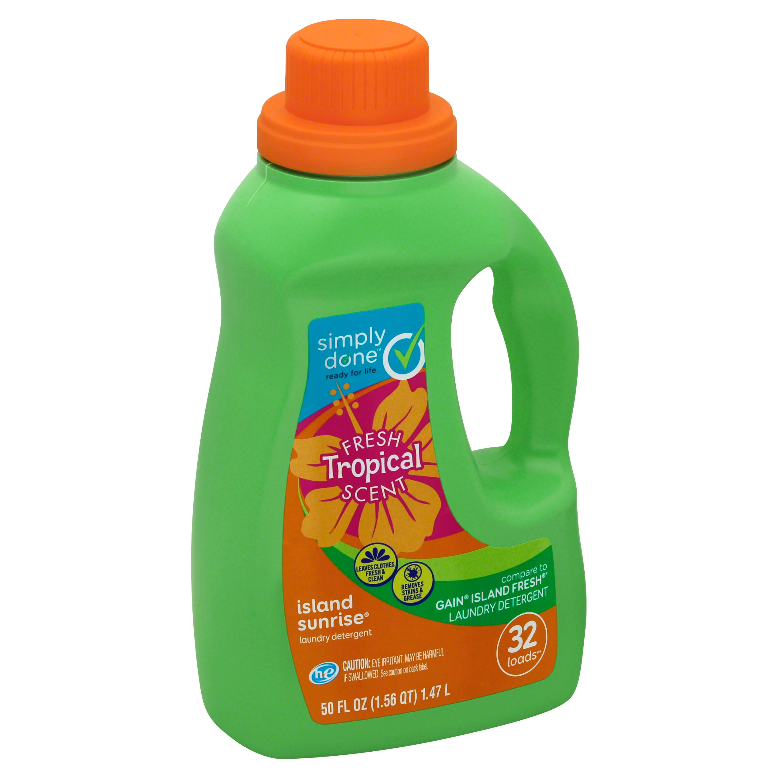 Simply Done Laundry Detergent, HE, Island Sunrise - 50 fl oz