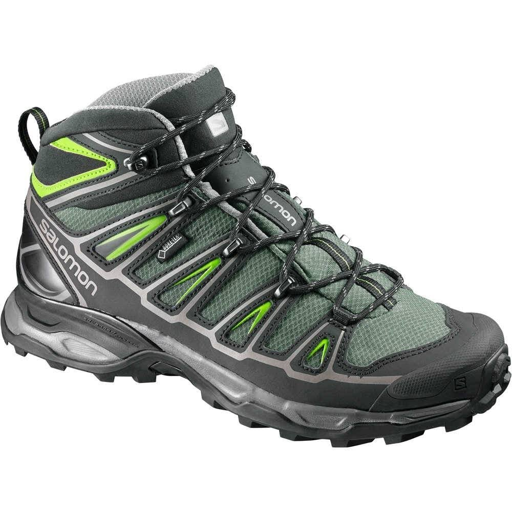 Salomon Men's x Ultra 2 Mid GTX Hiking Boots Bettle Green/Black 10.5