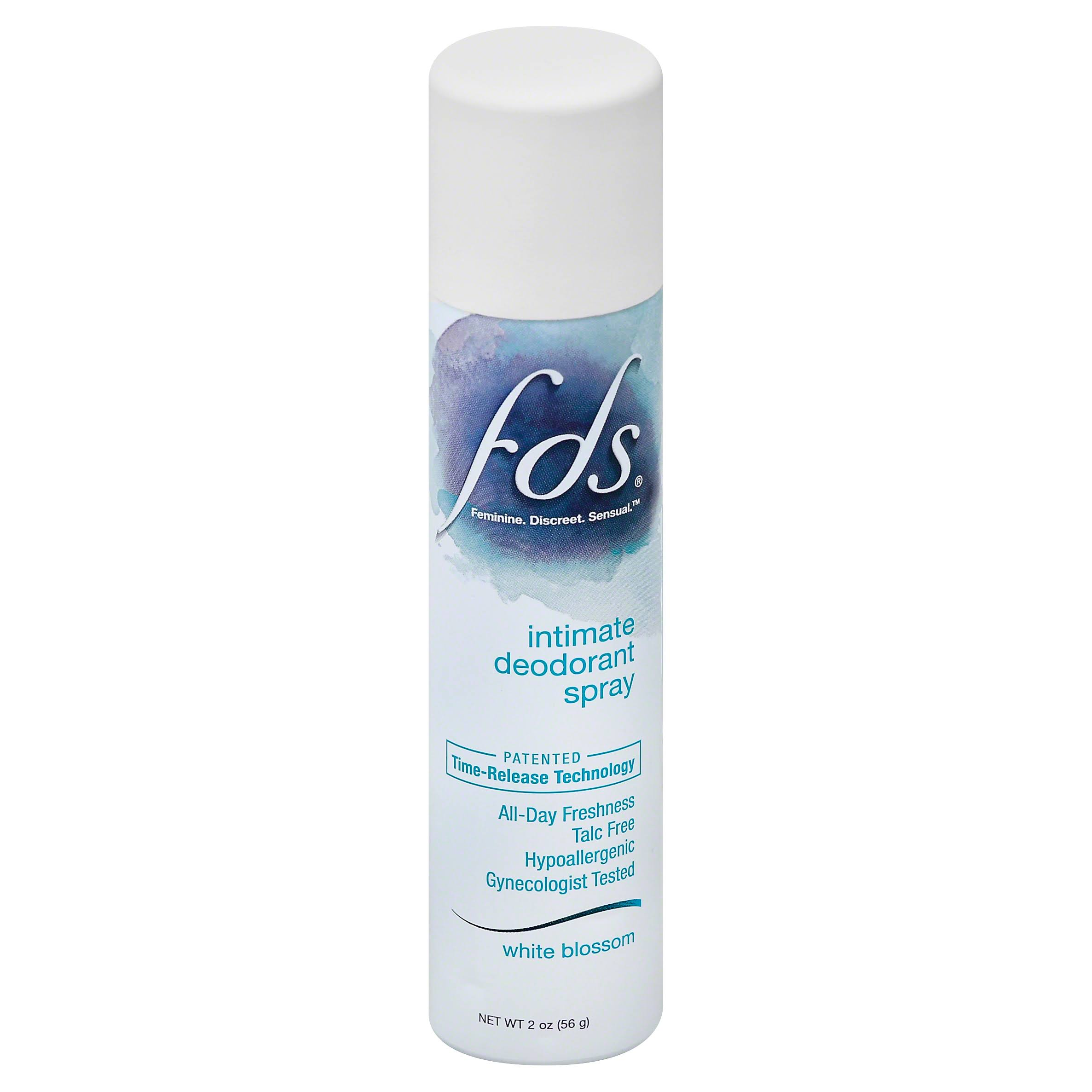FDS Intimate Deodorant Spray - White Blossom, 2oz