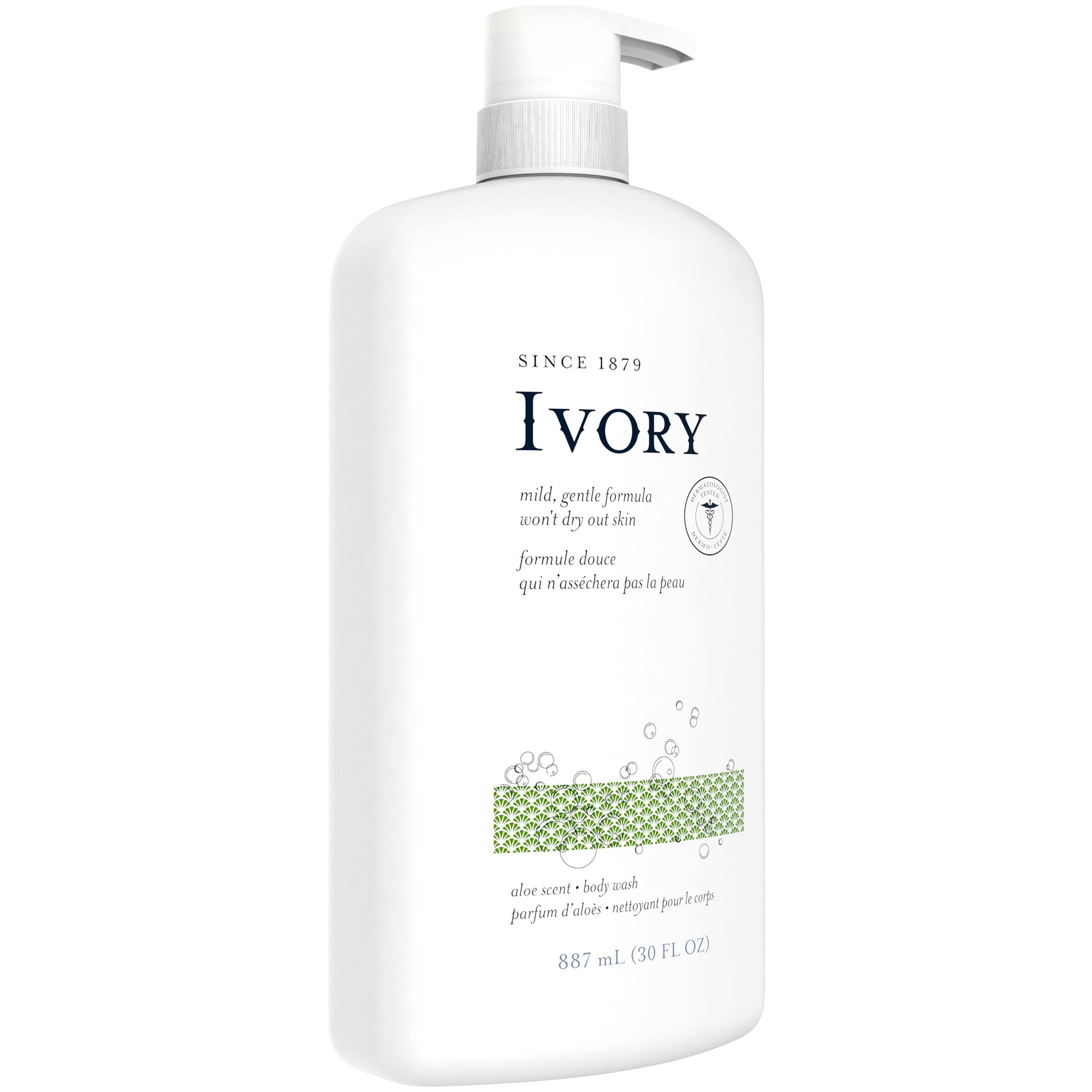 Ivory Clean Aloe Body Wash - 30 fl oz