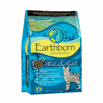Earthborn Holistic Grain Free Wild Sea Catch Dry Cat Food - 5 lb.