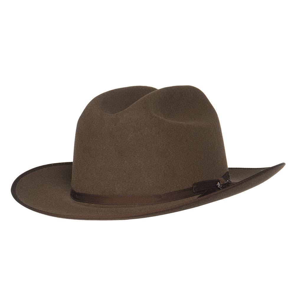 Stetson Hats Mens 6X Open Road Brown Mix 2 3/4 Brim