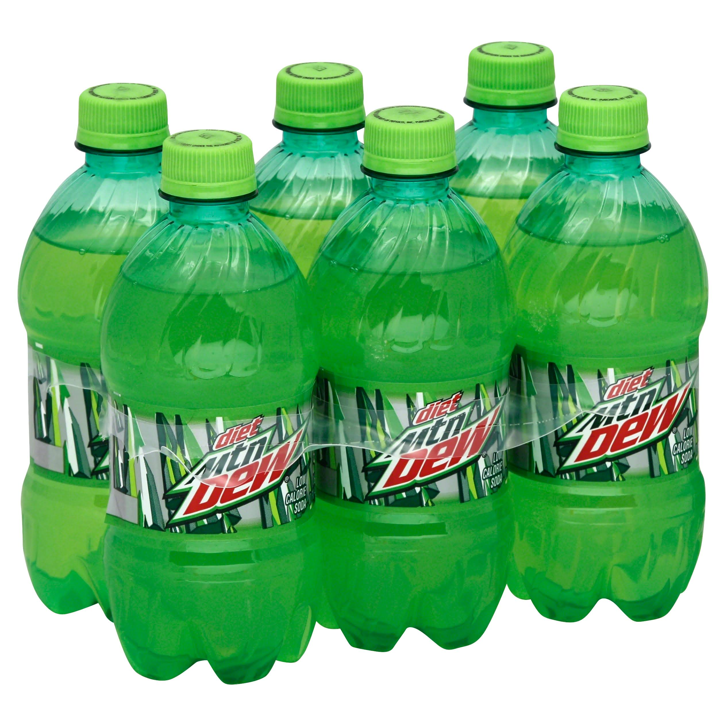 Mountain Dew Soda - Diet, 16oz, 6pk