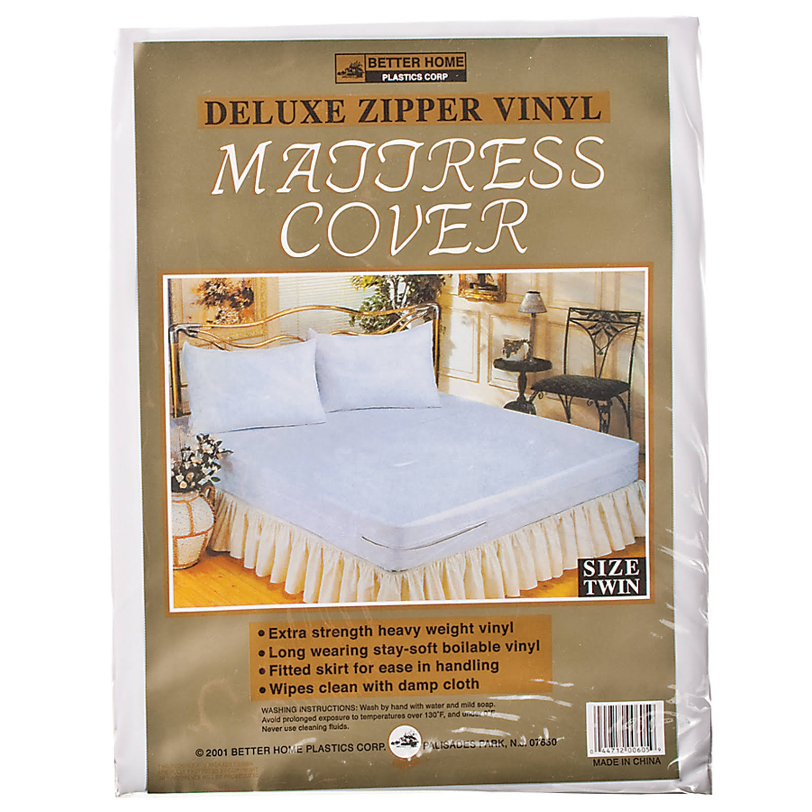 Better Home Vinyl Mattress Cover - Zippered Twin, Vinyl, Twin - 1 Pkg