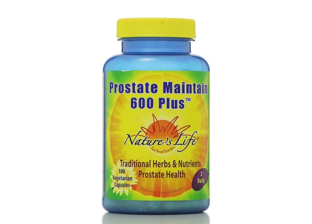 Nature's Life Prostate Maintain 600 Plus Supplement - 100 Vegetarian Capsules