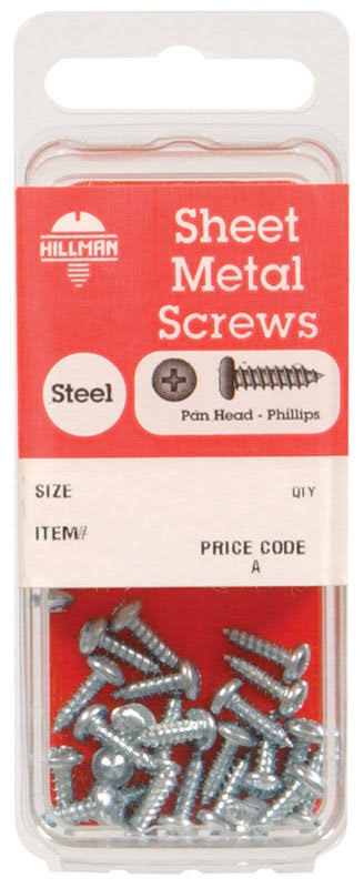 The Hillman Group 5496 Pan Phillips Sheet Metal Screw - 10pk
