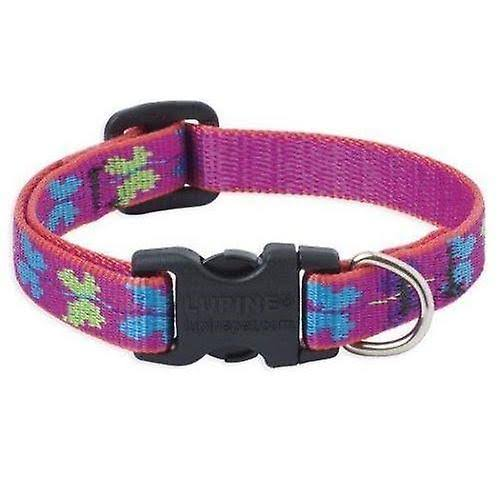 "Lupine Patterned Padded Handle Dog Lead - Wing It, 1/2"" x 4'"